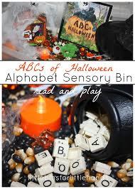 clifford halloween book alphabet halloween sensory bin halloween read and play little