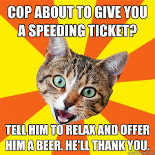 Speeding Meme - cop about to give you a speeding ticket cat meme cat planet cat