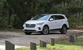 nissan pathfinder vs hyundai santa fe 2017 hyundai santa fe awd review car and driver