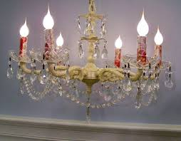Chandelier Candle Bathroom Design