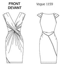 dress design draping and flat pattern sunnygal studio sewing compare and contrast vogue 1159 donna karan
