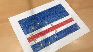 Flag Cape Cape Verdean Flag Drawing Cabo Verde Youtube
