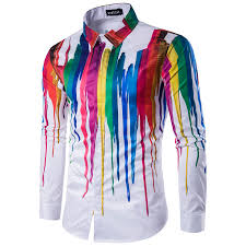 aliexpress com buy 2017 new men u0027s urban fashion shirt ink splash