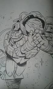 tmnt space raph coloring page by ninjaturtlefangirl on deviantart