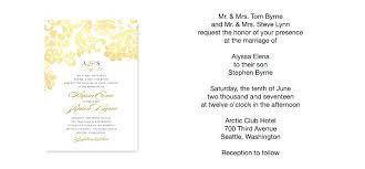 wedding invitations format wedding invitations pictures sle wedding invitation format