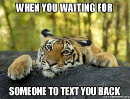 Waiting For Text Meme - when you waiting for someone to text you back confession tiger