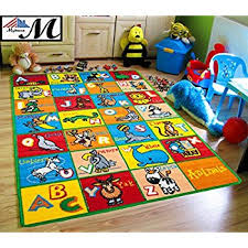 Playroom Area Rugs Rug Abc Animals Area Rug 5 X 7 Children Area