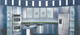 Kitchen  Frosted Glass Kitchen Cabinets Kitchen Cabinets With - Amazing stainless steel kitchen cabinet doors home