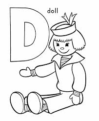 free printable alphabet coloring pages d for doll alphabet