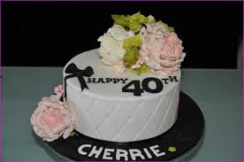 40th birthday cake ideas for wife simple image gallery