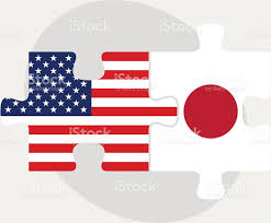 usa and japan flags in puzzle stock vector art 498681659 istock