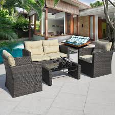 sofa wicker furniture outside how to clean in steps outdoor care