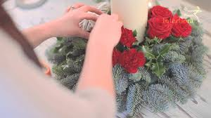 Flower Table How To Make A Christmas Table Arrangement Youtube