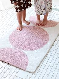 Pink Bathroom Rugs And Mats Dots Petal Bath Mat From Dwell Studio