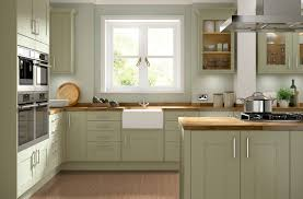 kitchens with shelves green kitchen olive green timber shaker kitchen with casement window and