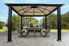 hardtop patio gazebo amazon com systems trading corporation 12 u0027 x 12 u0027 hard top