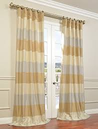Yellow Faux Silk Curtains Half Price Drapes Ptsch H40814 120 Faux Silk Taffeta Stripe
