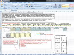 Hvac Load Calculation Spreadsheet by 10v1