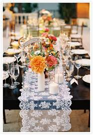 lace table runners wedding love the lace table runner on this super unique wedding table from