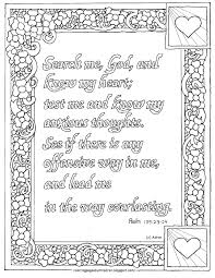 coloring pages for kids by mr adron printable psalm 139 23 24