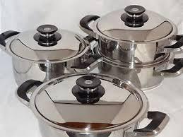 batterie de cuisine amc amc batterie de cuisine ensemble 10 pièces des casseroles pots