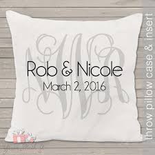 monogram wedding gifts monogram wedding pillow throw pillow size 14 x 14
