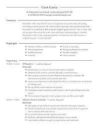 bartending resume examples successful resumes examples free resume example and writing download bartender resume