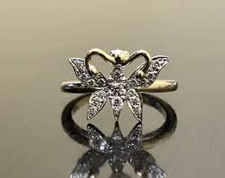 butterfly engagement ring butterfly engagement ring etsy