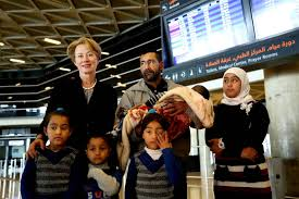 First Syrian Family In U0027surge U0027 Resettlement Program Departs For