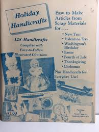 vintage scarce 1966 1st ed holiday handicrafts christmas