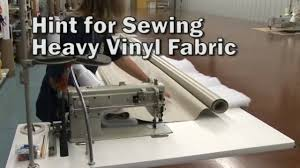 Vinyl Awning Fabric Hints For Sewing Heavy Vinyl Fabrics Youtube