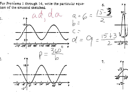 trig graph to equation worksheet youtube