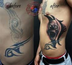 skull cover up by