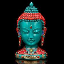 buddha statues for home decor turquoise buddha bust statue buddha head tibetan nepal home decor