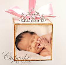 personalized baby block ornament personalized pink princess tiara birth announcement photo baby