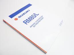 neu fahrerhandbuch suzuki rm 85 rm 85 l owner u0027s manual rm 85 rm