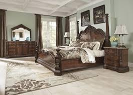 king poster bedroom set amazon com ledelle 5pc king poster bedroom set everything else