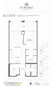 One Bloor Floor Plans Ev Royale Pre Construction Mississauga Condosky Realty