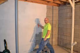 apply basement wall paint sealer brendaselner basement ideas