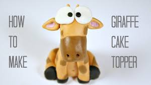 giraffe cake topper how to make a giraffe cake topper fondant giraffe tutorial