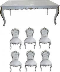 möbel stühle esszimmer casa padrino barock esszimmer set weiß weiß gold esstisch