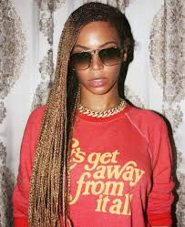red cornrow braided hair beyonce s knee length box braids beyonce braids cornrows and