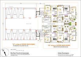 varun flora floor plans project 3d views in kolhapur a wing parking b wing ground floor plan