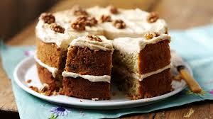 brown cake coffee and walnut cake recipe food