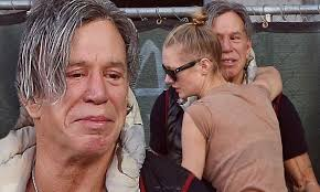 Mickey Rourke News Newslocker - mickey rourke breaks down crying while out in la with girlfriend