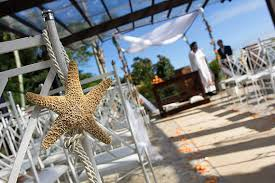 starfish decorations tying the knot nautical wedding aisle decorations white or
