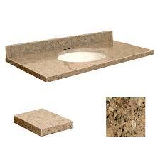 Bathroom Vanities Tops by Shop Transolid Giallo Veneziano Granite Undermount Single Sink