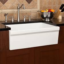 Kitchen Sinks And Faucets by Kitchen Interesting Fireclay Apron Front Sink With Faucets And