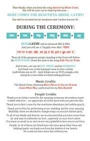 create wedding programs for customizing your own stuff go to the useful links page