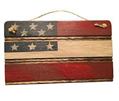 americana american flag wooden wall decor for